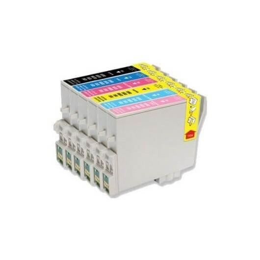 Pack Compatible Epson R200/300 ( 1 Noire et 5 couleurs)