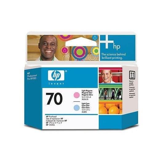 C9405A Magenta clair & Cyan clair Têtes d'impression HP N°70