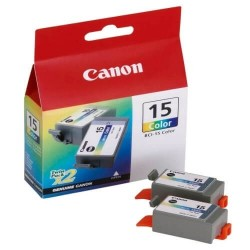 Canon BCI-15 - 8191A002 - Couleurs - 2 Cartouches d'encre Canon