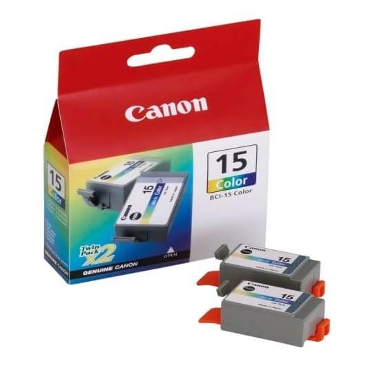 BCI15 Double Pack Couleur Cartouche d'encre Canon