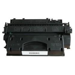 HP 80X - HP CF280X - Noir - Toner XL Compatible HP