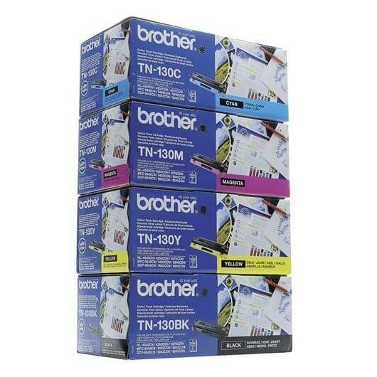 TN130 Pack de 4 Toners Brother 1 Noir, 1 Cyan, 1 Magenta, 1 Jaune