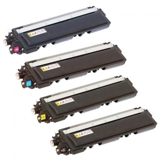TN230 Pack de 4 Toners Compatibles Brother 1 Noir, 1 Cyan, 1 Magenta, 1 Jaune