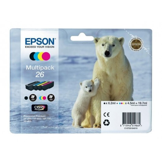 Epson T2616 - 26 Ours Polaire - MultiPack 4 Cartouches Epson
