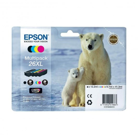 Epson T2636 - 26XL Ours Polaire - MultiPack 4 Cartouches Epson