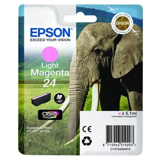 "T2426 Cartouche jet d'encre Light Magenta "" Elephant"" Claria Photo HD N°24"