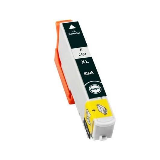 Epson T2431 - Epson 24XL -Epson  Elephant - Noir - Cartouche Compatible