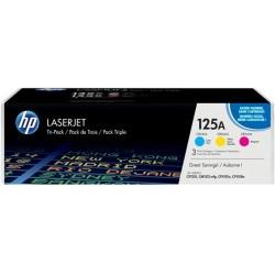 HP 125A - HP CF373AM - Cyan / Magenta / Jaune - Toners HP