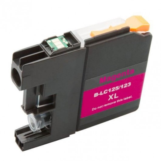 Brother LC-125XLM - Magenta - Cartouche d'encre Compatible XL Brother