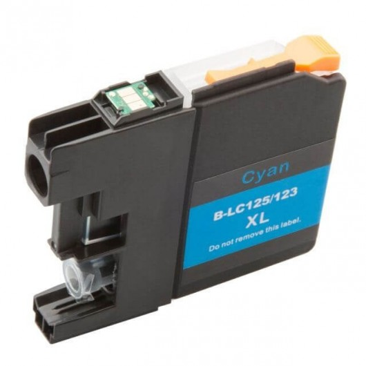 Brother LC-125XLC - Cyan - Cartouche d'encre Compatible XL Brother