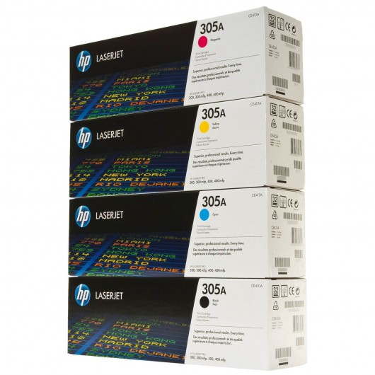 HP 305 - HP CE410X + HP CF370AM - Pack de 4 Toners HP