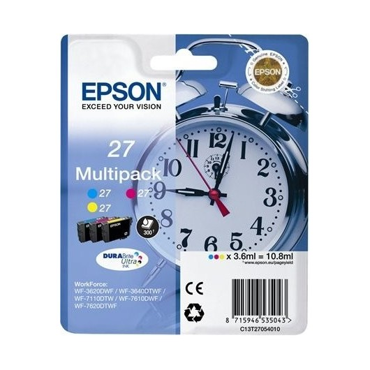 Epson T2705 - Epson 27 -Epson  Reveil - MultiPack de 3 Cartouches Epson