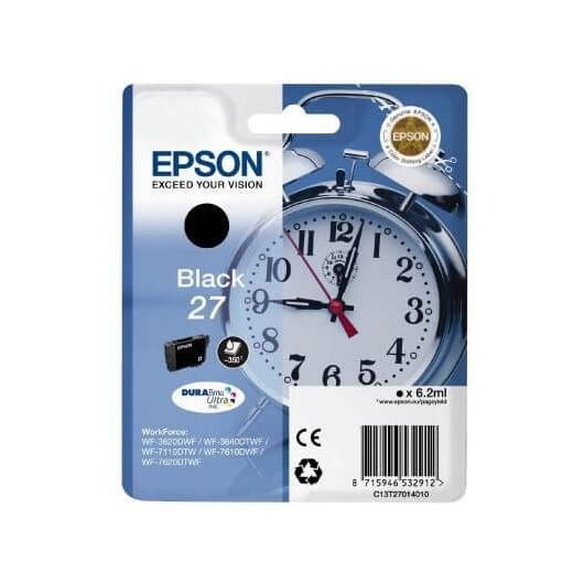 Epson T2701 - Epson 27 -Epson  Reveil - Noir - Cartouche Epson