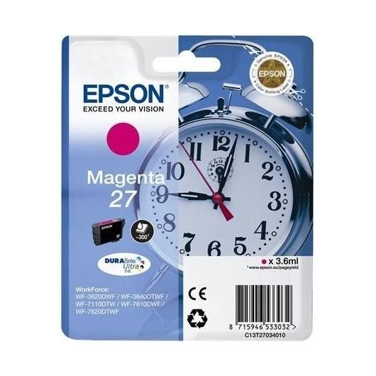 Epson T2703 - Epson 27 -Epson  Reveil - Magenta - Cartouche Epson