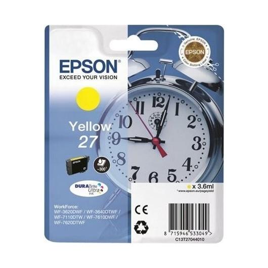 Epson T2704 - Epson 27 -Epson  Reveil - Jaune - Cartouche Epson