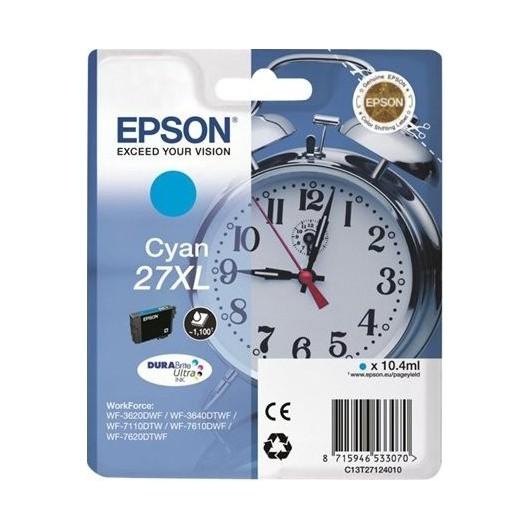 Epson T2712 - Epson 27XL -Epson  Reveil - Cyan - Cartouche Epson