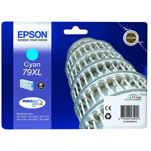 Epson T7902 - Epson 79XL - Tour de pise - Cyan - Cartouche d'encre Epson