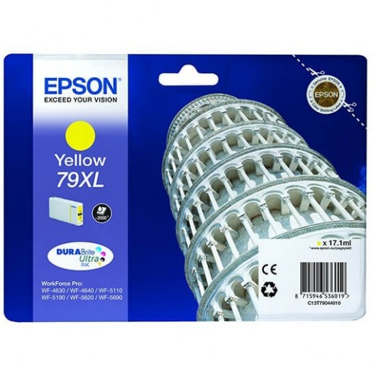 Epson T7904 - Epson 79XL - Tour de pise - Jaune - Cartouche d'encre Epson