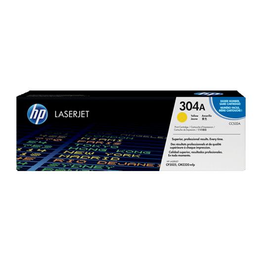 HP 304A - HP CC532A - Jaune - Toner HP