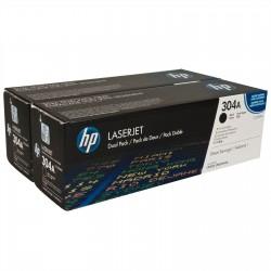 HP 304A - HP CC530AD - Noir - Pack de 2 Toners HP