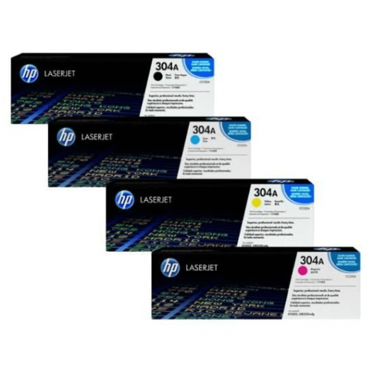 HP 304A - HP CC530 + HP CF372AM - Pack de 4 Toners HP