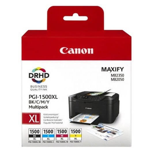 Canon PGI-1500XL - 9182B004 - 4 Cartouches d'encre Canon PGI-1500XL