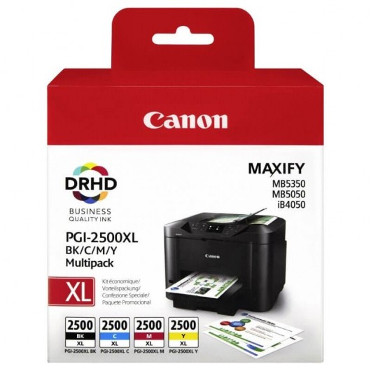 Canon PGI-2500XL - 9254B004 - 4 Cartouches d'encre Canon
