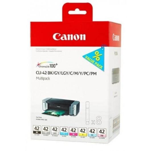 Canon CLI-42 - 6384B010 - Pack de 8 Cartouches Canon