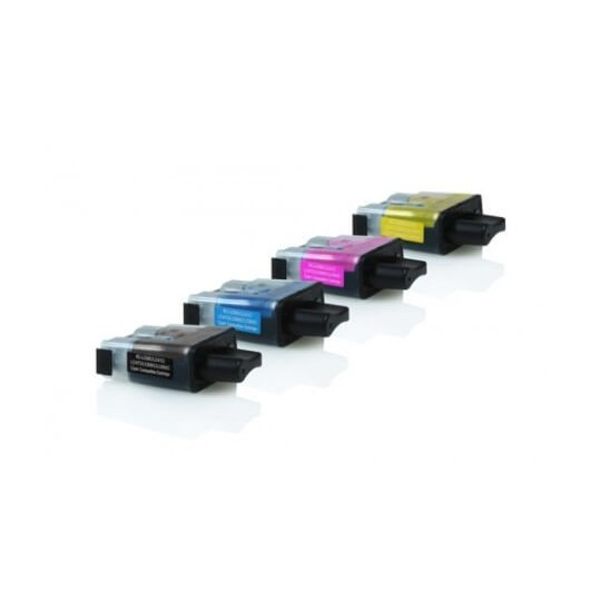 Pack Compatible Brother LC900 - 1 Noir & 3 Couleurs