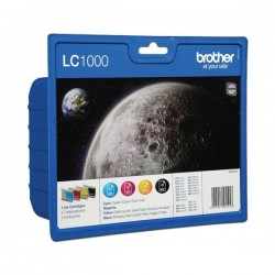 Brother LC-1000VALBP - Noir / Couleurs - Pack de Cartouches Brother (4 cartouches)