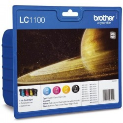 Brother LC-1100VALBP - Noir / Couleurs - Pack de 4 Cartouches d'encres Brother