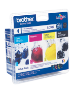 Brother LC-980VALBP - Noir / Couleurs - Pack de Cartouches Brother (4 cartouches)