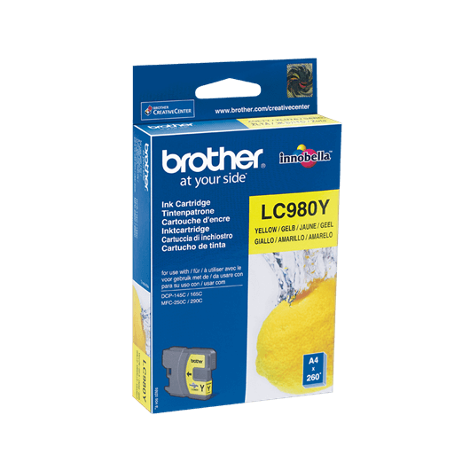 LC-980Y - Jaune - Cartouche Brother