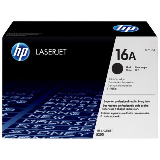 cartouche toner HP Q7516A - 16A