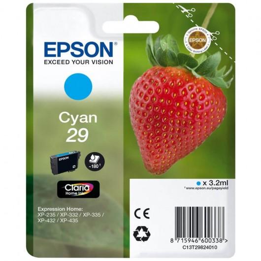 "T2982 - 29 - Cyan - Cartouche Epson ""Fraise"" Claria"