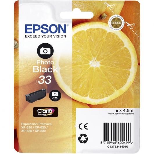 """T3341 - 33 - Photo Noir - Cartouches Epson """"Orange"""""""