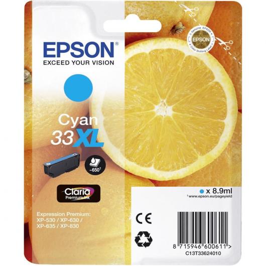 "T3362 - 33XL - Cyan - Cartouches Epson ""Orange"""