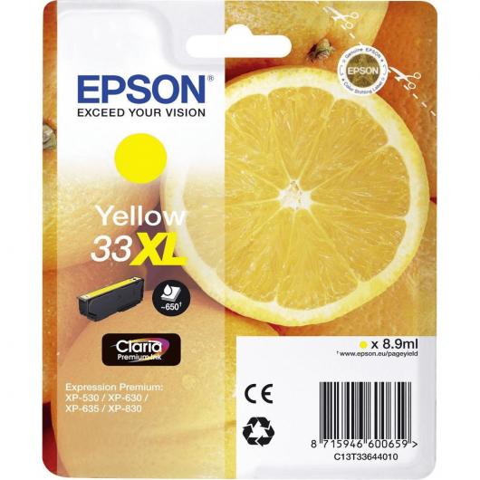 "T3364 - 33XL - Jaune - Cartouches Epson ""Orange"""