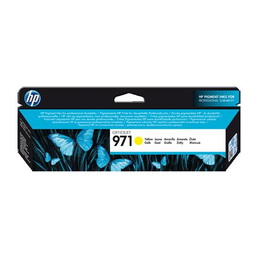 971 - Jaune - Cartouche HP OfficeJet Pro