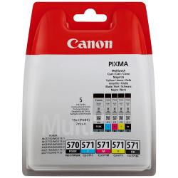 Canon PGI-570 / CLI-571 - 0372C004 - 5 Cartouches d'encre Canon