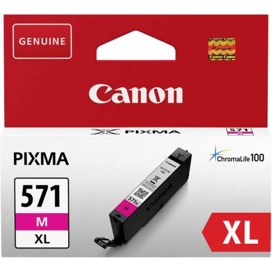 CLI-571Y XL - Magenta - Cartouche Haute Autonomie Canon