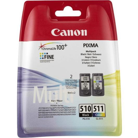 Canon PG-510 / CL-511 - 2970B010 - 2 Cartouches d'encre Canon