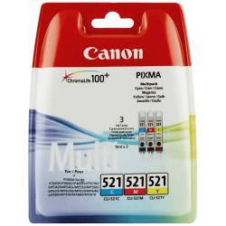 Canon CLI-521 - 2934B010 - 3 Cartouches d'encre Canon