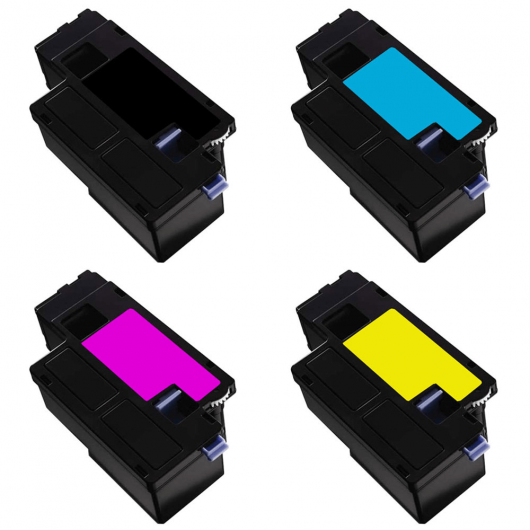 593-1101x - Noir / Couleurs - Pack de 4 Toners Remanufacturé DELL