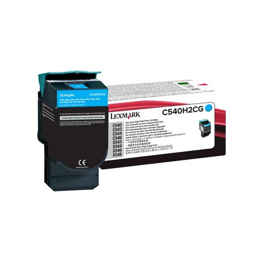 C540H2CG - Cyan - Toner XL Haute Capacité LEXMARK