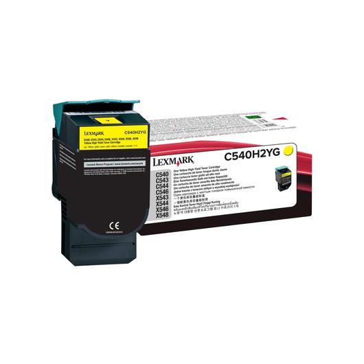 C540H2YG - Jaune - Toner XL Haute Capacité LEXMARK