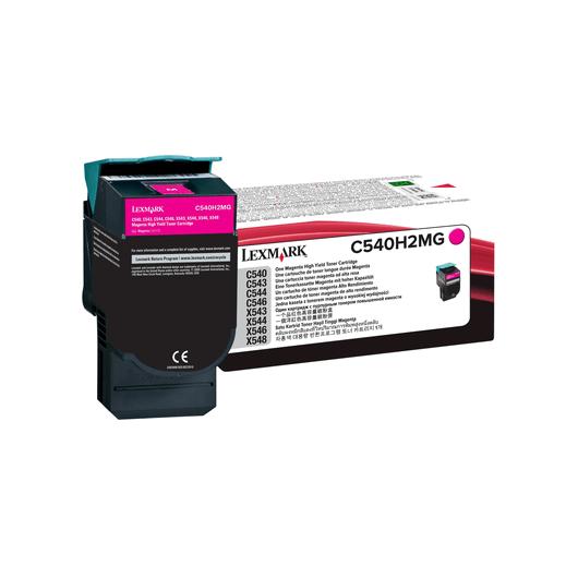 C540H2MG - Magenta - Toner XL Haute Capacité LEXMARK