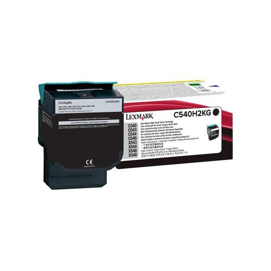 C540H2KG - Noir - Toner XL Haute Capacité LEXMARK