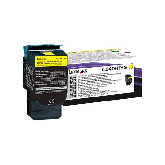 C540H1YG - Jaune - Toner XL Return Programme Lexmark