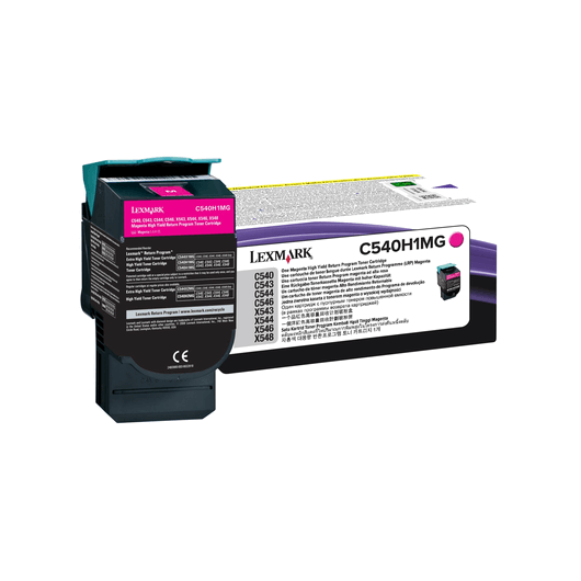 C540H1MG - Magenta - Toner XL Return Programme Lexmark